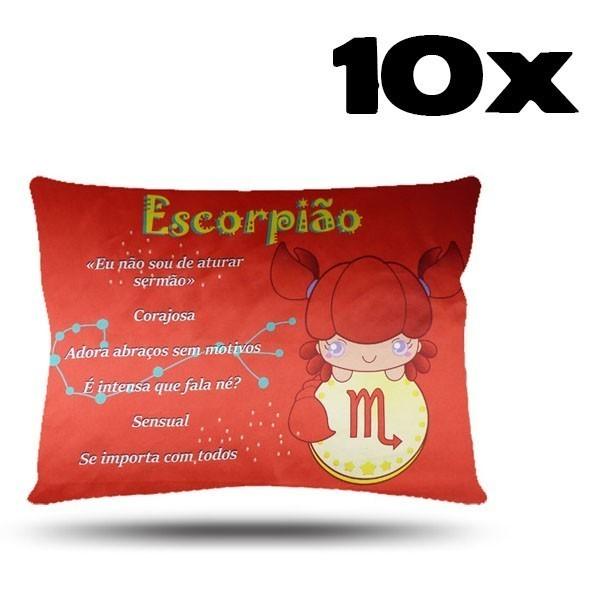 Kit com 10 Fronhas de Cetim - Signo - Escorpião