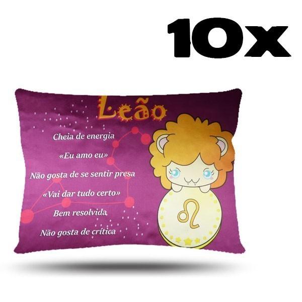 Kit com 10 Fronhas de Cetim - Signo - Leão