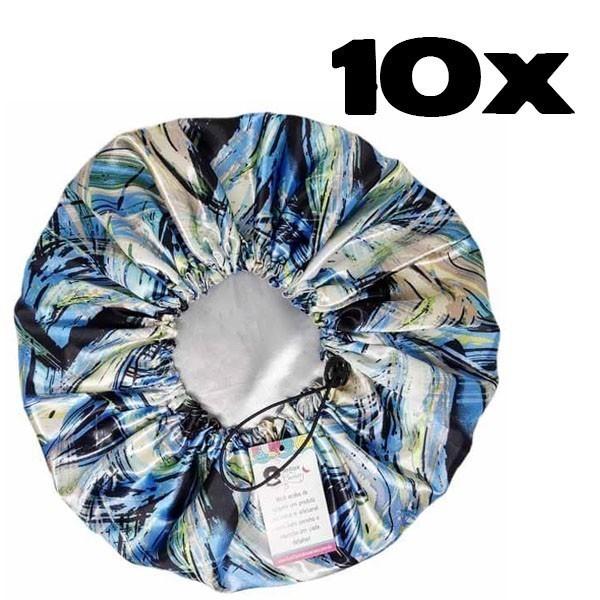 Kit com 10 Toucas de Cetim - Abstrata B