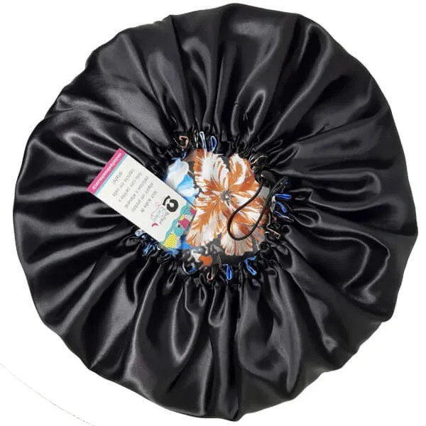 Kit com 10 Toucas de Cetim - Floral Azul II