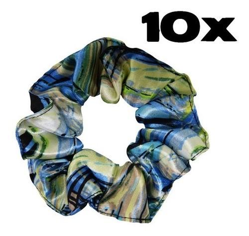 Kit com 10 Xuxinhas de Cetim - Abstrata B