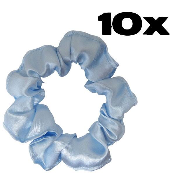 Kit com 10 Xuxinhas de Cetim - Azul Claro