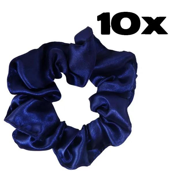 Kit com 10 Xuxinhas de Cetim - Azul Escuro