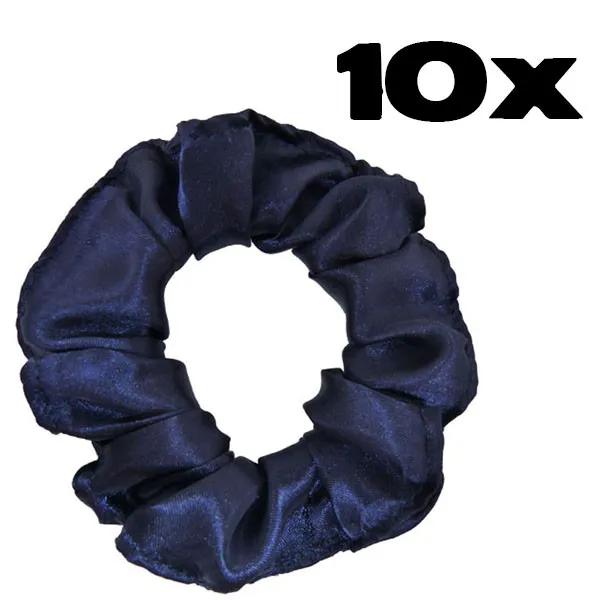Kit com 10 Xuxinhas de Cetim - Azul Marinho