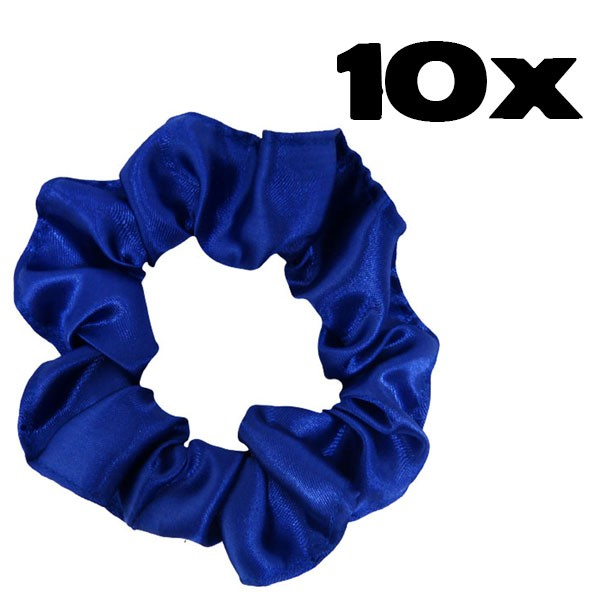 Kit com 10 Xuxinhas de Cetim - Azul Royal