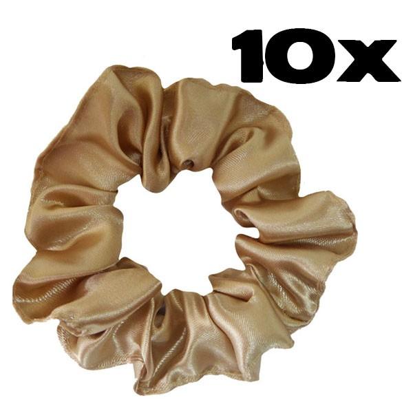 Kit com 10 Xuxinhas de Cetim - Bege