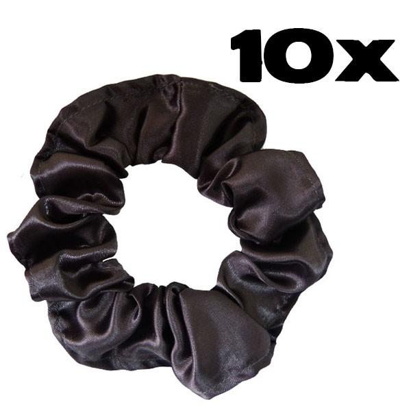 Kit com 10 Xuxinhas de Cetim - Cinza