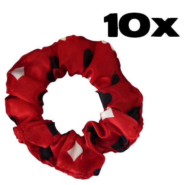 Kit com 10 Xuxinhas de Cetim - Copas Vermelho