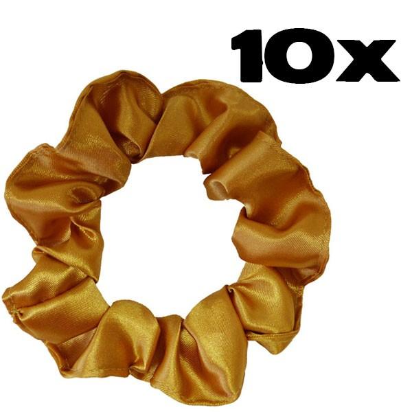 Kit com 10 Xuxinhas de Cetim - Dourado