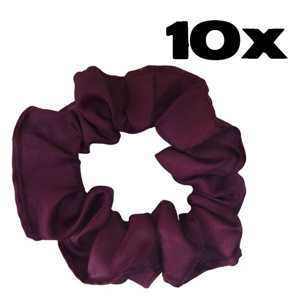 Kit com 10 Xuxinhas de Cetim - Marsala