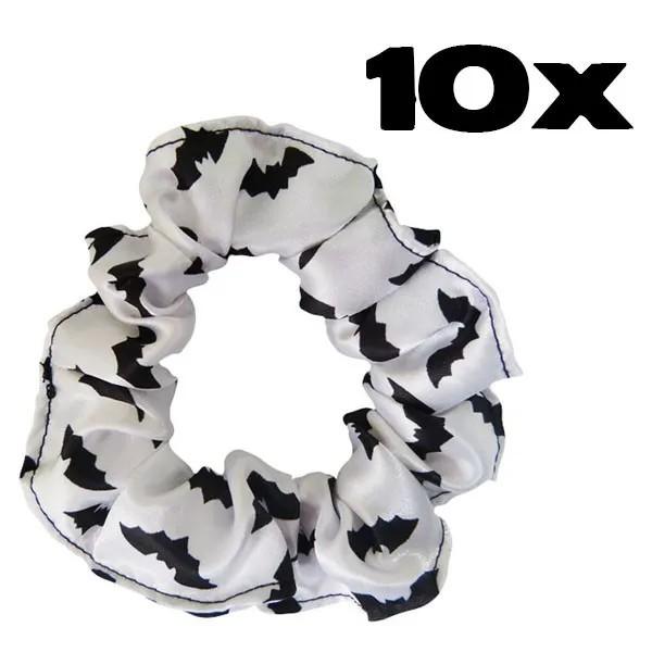 Kit com 10 Xuxinhas de Cetim - Morceguinho Branco