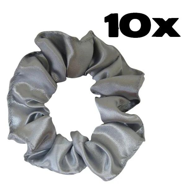 Kit com 10 Xuxinhas de Cetim - Prata