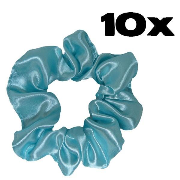 Kit com 10 Xuxinhas de Cetim - Verde Água