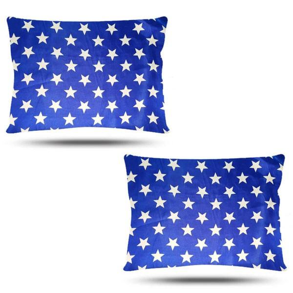 Kit com 2 Fronhas de Cetim - Azul de Estrela