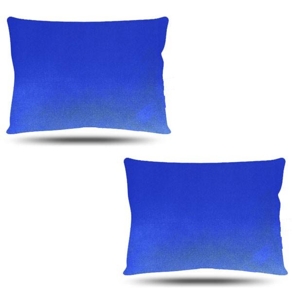 Kit com 2 Fronhas de Cetim - Azul Royal