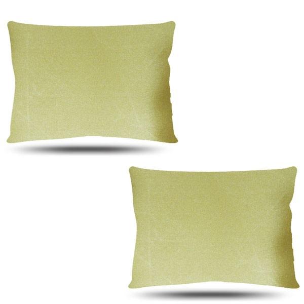 Kit com 2 Fronhas de Cetim - Dourada