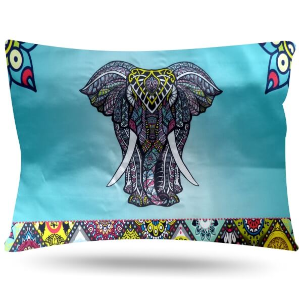 Kit com 2 Fronhas de Cetim - Elefante