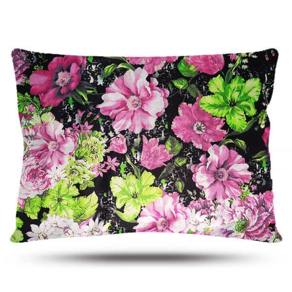 Kit com 2 Fronhas de Cetim - Floral Rosa