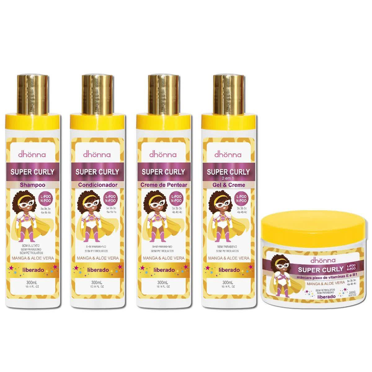 Kit Super Curly - Com máscara - Dhonna