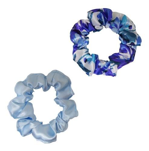 Kit Xuxinhas - Floral Azul I e Azul Claro - Anti Frizz