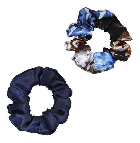 Kit Xuxinhas - Floral Azul II e Azul Marinho - Anti Frizz
