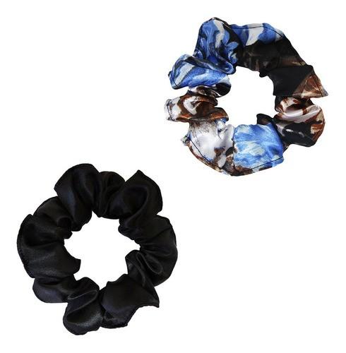 Kit Xuxinhas - Floral Azul II e Preta - Anti Frizz