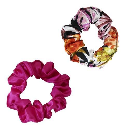 Kit Xuxinhas - Floral Ferrugem e Pink - Anti Frizz