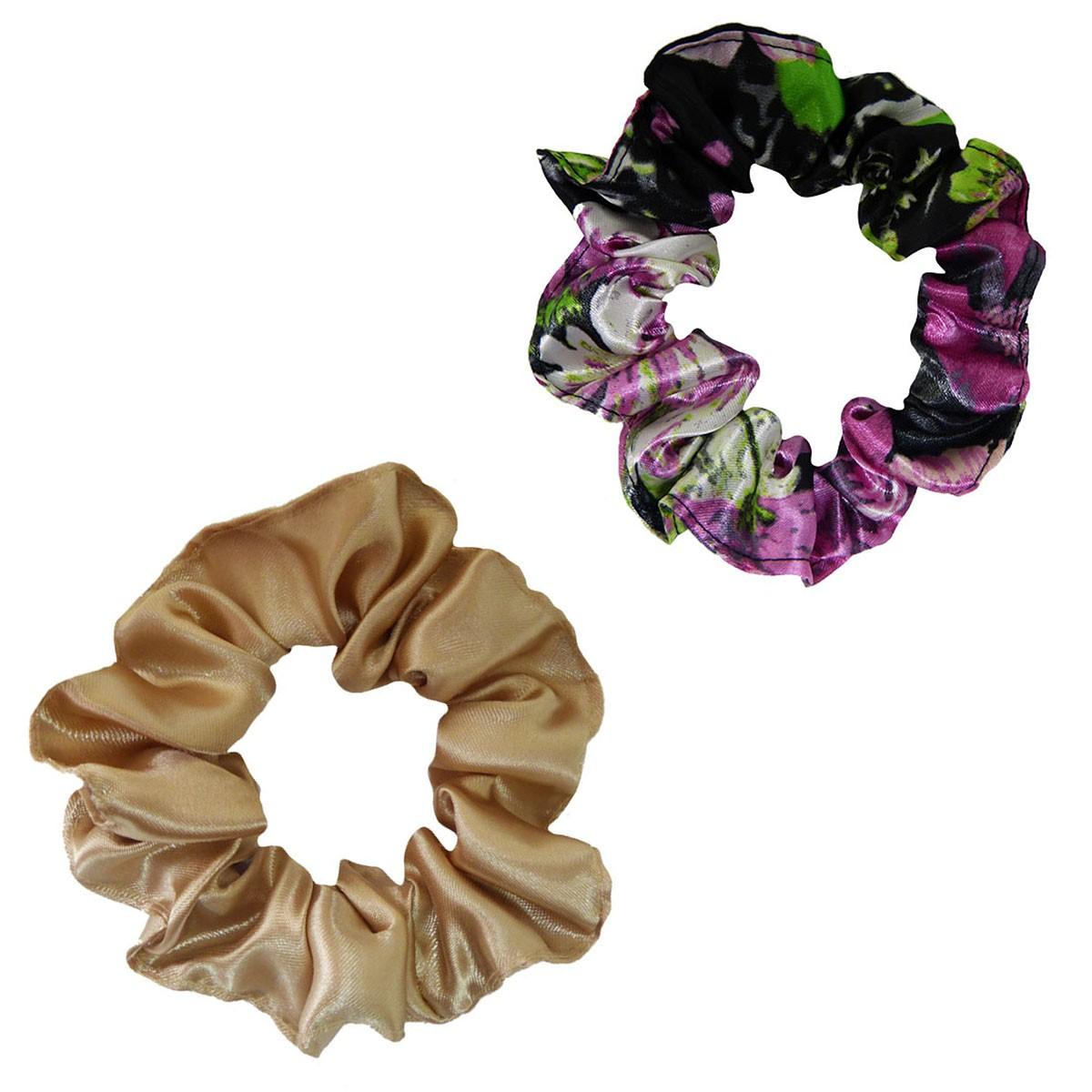 Kit Xuxinhas - Rosa Floral e Bege - Anti Frizz