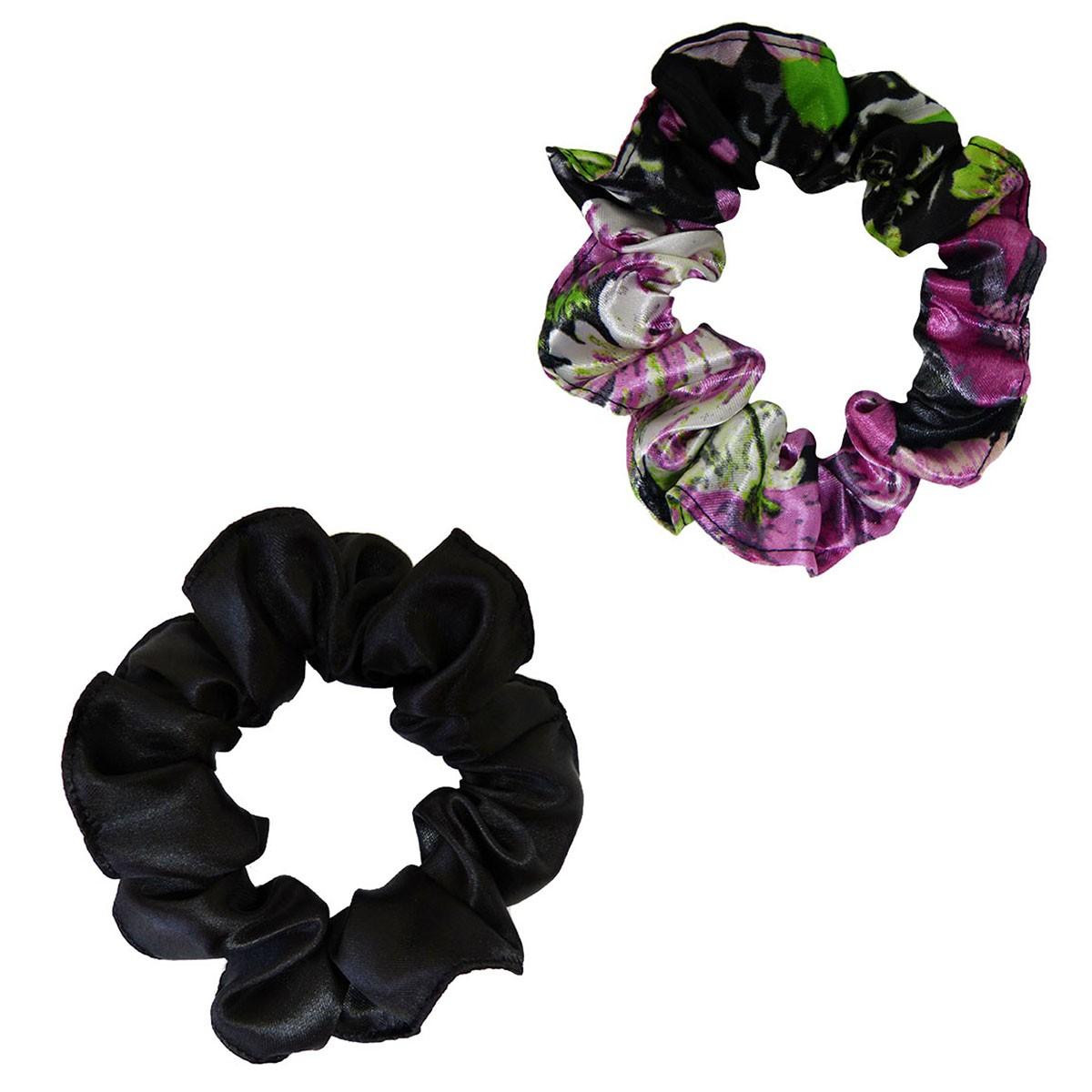 Kit Xuxinhas - Rosa Floral e Preta - Anti Frizz
