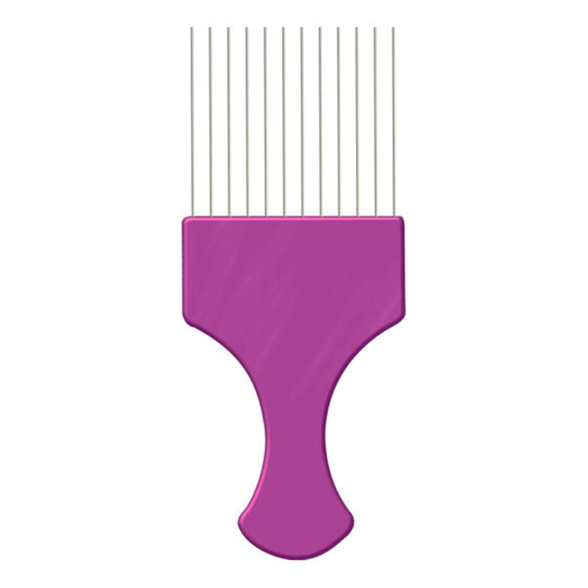 Pente Afro com Dente de Aço - Pink - Pente Garfo
