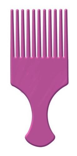 Pente Plástico Garfo Afro com Dentes Largos - Lilás