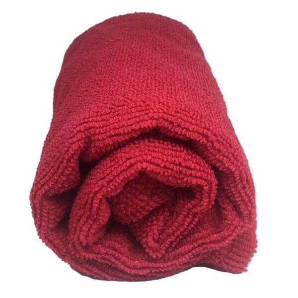 Toalha de Microfibra - Tamanho G - Vermelho
