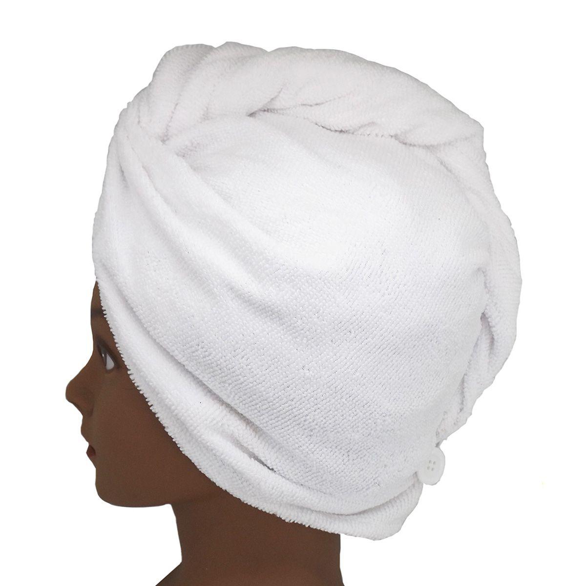 Toalha Turbante de Microfibra Branca
