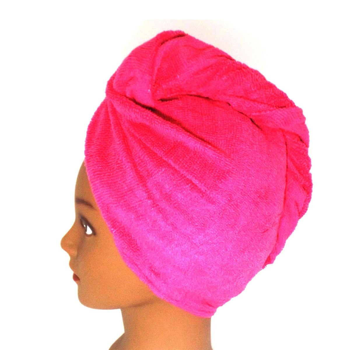 Toalha Turbante de Microfibra Pink