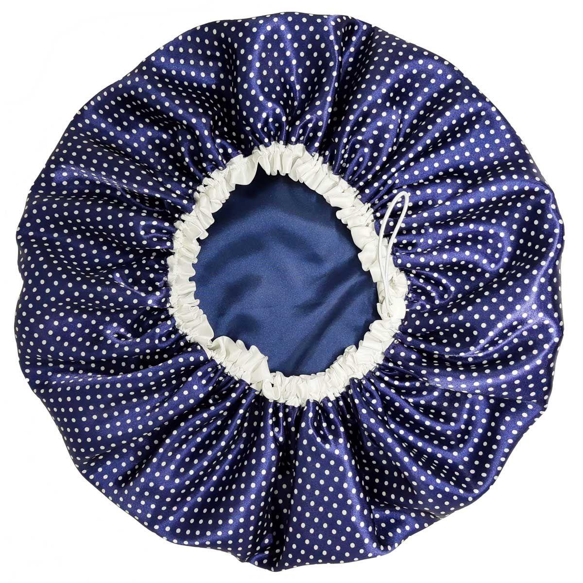 Touca de Cetim - Dupla Face com Regulagem - Azul Poá