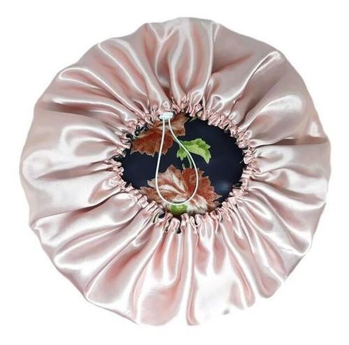 Touca de Cetim Dupla Face - Floral I - Ajustável
