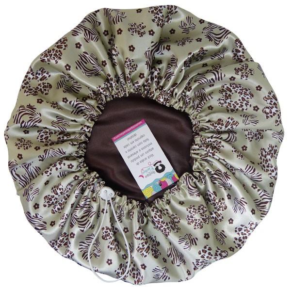 Touca de Cetim - Dupla - Floral Animal - Ajustável