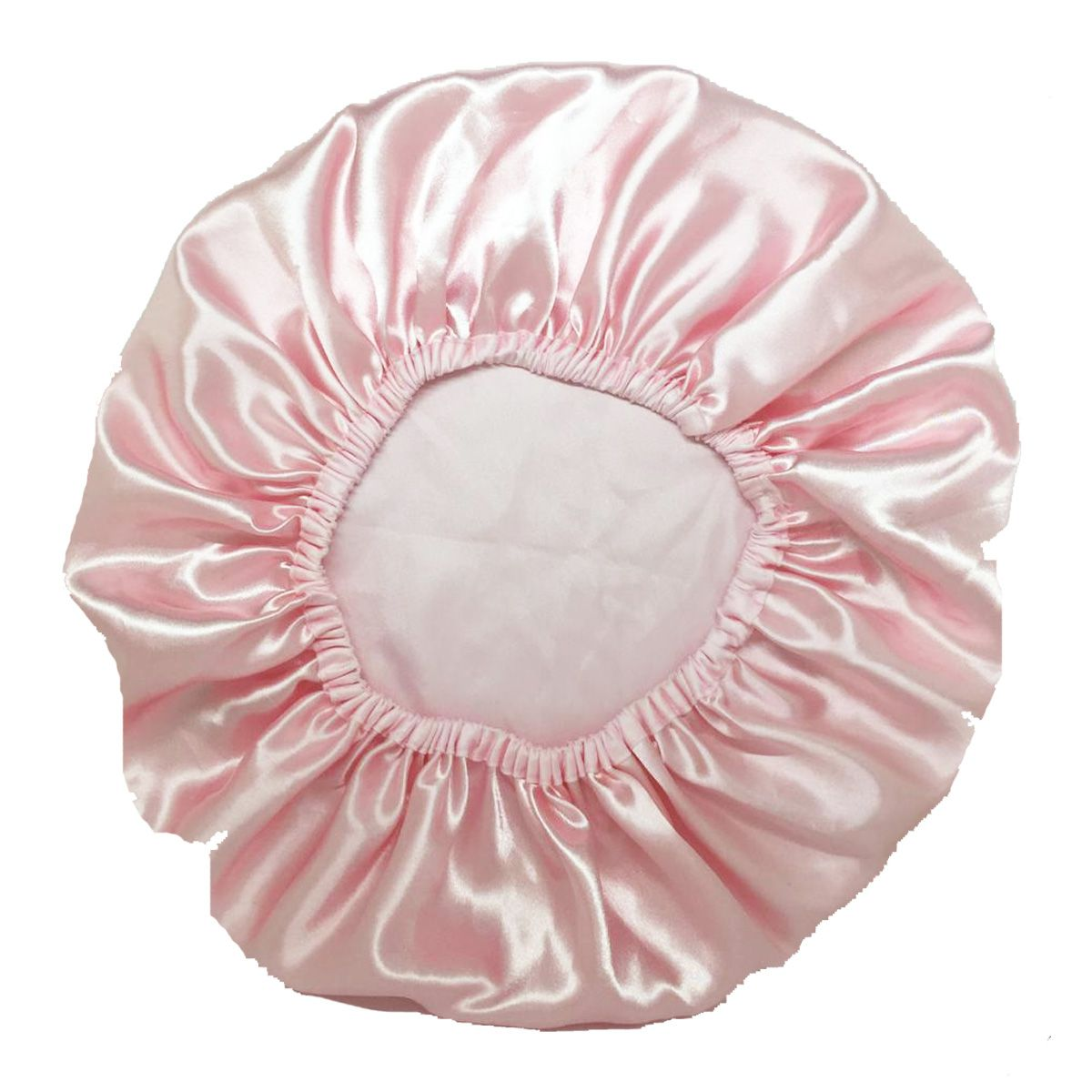 Touca de Cetim Rosa Lisa - Basic