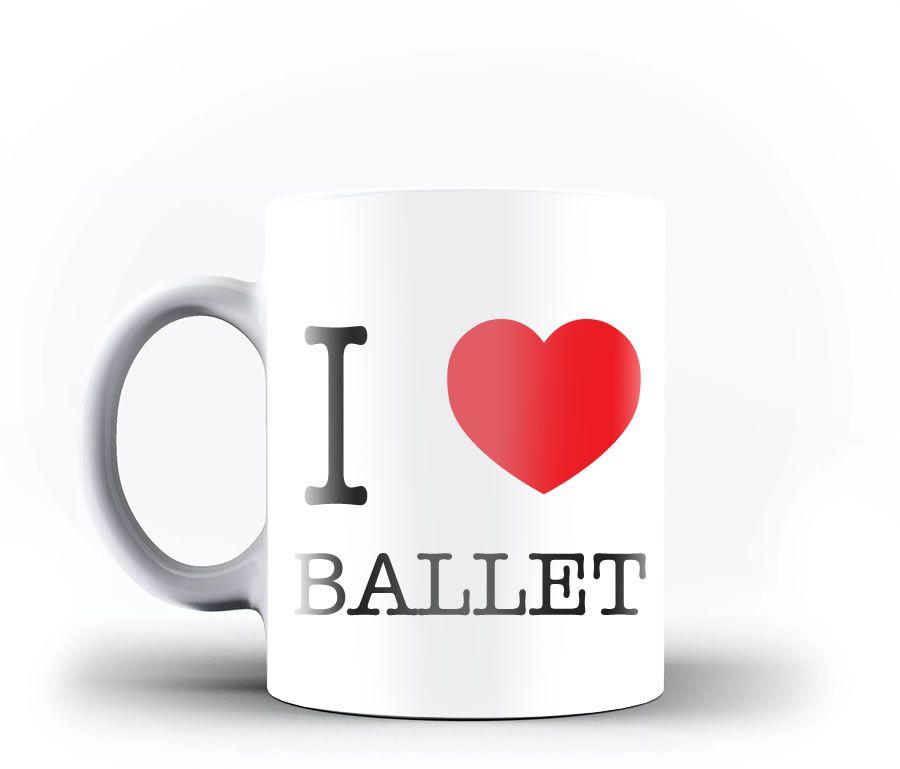 Caneca I LOVE BALLET personalizada com seu nome