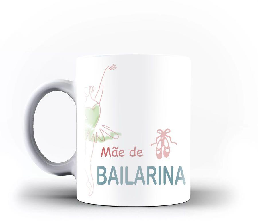 Caneca Mãe de Bailarina personalizada com seu nome