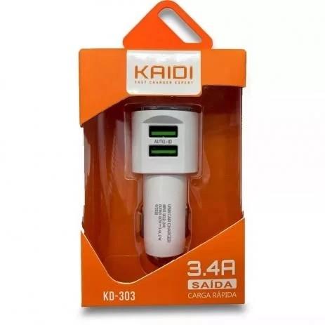 Carregador Veicular Kaidi Kd-303