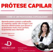 Curso de aplicação de prótese capilar masculina
