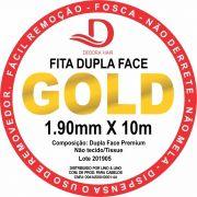 Fita Adesiva Dupla Face Incolor Amarela 10 metros - 2,5 cm