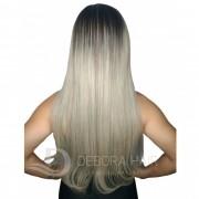 Mega Hair Fita Adesiva 70 cm Loiro Claro Russo Liso com Raiz Esfumada