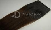 Mega Hair Fita Adesiva Castanho c/ Ombre 60 cm