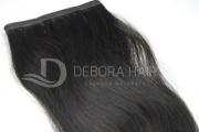 Mega Hair Fita Adesiva Leve Ondulado Castanho 50 cm