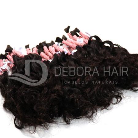 Cabelo Cacheado com Permanente Castanho Cacho Largo de 45 cm  - DEBORA HAIR