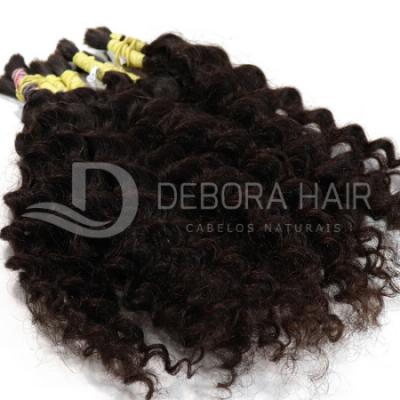 Cabelo Cacheado com Permanente Castanho (n.1) de 55 cm  - DEBORA HAIR
