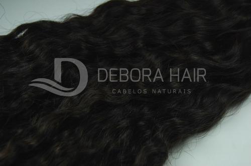 Cabelo Cacheado com Permanente Castanho (n.2) de 50 cm  - DEBORA HAIR