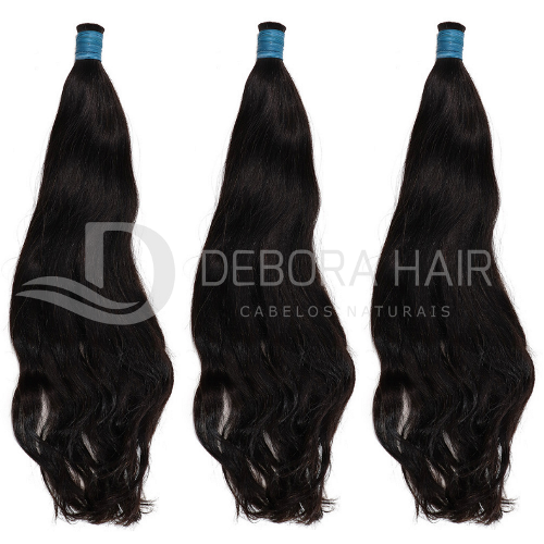 Cabelo Natural Leve Ondulado Castanho de 30 cm  - DEBORA HAIR